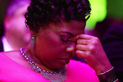 "Bernice King, the daughter of Martin Luther King, Jr., prays before speaking during the I AM 2018 ""Mountaintop Speech"" Commemoration at the Mason Temple Church of God in Christ, the same place her father delivered his ""Mountaintop"" speech on the eve of his assassination,  April 3, 2018 in Memphis, Tennessee. The city is commemorating the 50th anniversary of King's assassination on April 4, 1968."