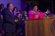 "Martin Luther King III (L) and his sister Bernice King address the I AM 2018 ""Mountaintop Speech"" Commemoration at the Mason Temple Church of God in Christ, the same place their father, Martin Luther King, Jr., delivered his ""Mountaintop"" speech on the eve of his assassination, April 3, 2018 in Memphis, Tennessee. The city is commemorating the 50th anniversary of King's assassination on April 4, 1968."