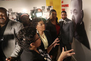 Rev. Dr. Bernice King (2nd L), daughter of Dr. Martin Luther King, Jr. visits the MLK50: A legacy Rembered exhibit at the National Civil Rights Museum as they prepare for the 50th anniversary of her father's assassination on April 2, 2018 in Memphis, Tennessee. Over the next few days, the city will commemorate his legacy before his death on the balcony at the Lorraine Motel on April 4, 1968.