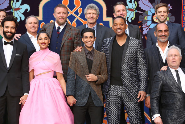 """World Premiere of Disney's """"Aladdin"""" In Hollywood [aladdin,event,premiere,suit,team,family pictures,performance,alan menken,guy ritchie,jonathan eirich,actors,hollywood,front,disney,walt disney studios,world premiere]"""