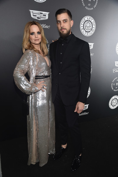 Mena Suvari with boyfriend�Michael Hope�at The Art Of Elysium's 11th Annual Celebration