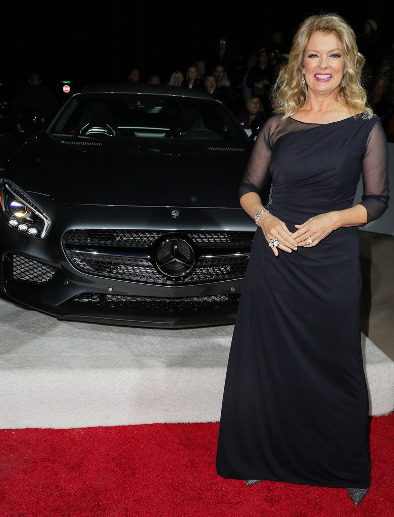 mary hart photos photos mercedes benz arrivals at the. Black Bedroom Furniture Sets. Home Design Ideas