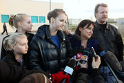 Relatives of convicted murderer Amanda Knox (R-L) father Curt Knox, mother Edda Mellas, sister Deanna Knox and stepsisters give an interview to the waiting media after visting her in Perugia Prison on December 5, 2009 in Perugia, Italy. Amanda Knox and her former Italian boyfriend Raffaele Sollecito were found guilty of the murder of British student Meredith Kercher in Perugia on November 1, 2007 and given sentences of 26 years and 25 years respectively.