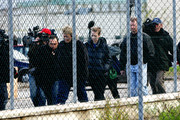 DECEMBER 5: Curt Knox, the father of Amanda Knox, Deanna Knox, sister of Amanda and Cassanra Knox, second wife of Curt, are pursued by the media as they walk away from the Perugia's prison of Capanne after a visit to Amanda on December 5, 2009 in Perugia, Italy. Amanda Knox and her former Italian boyfriend Raffaele Sollecito were found guilty of the murder of British student Meredith Kercher in Perugia on November 1, 2007 and given sentences of 26 years and 25 years respectively.