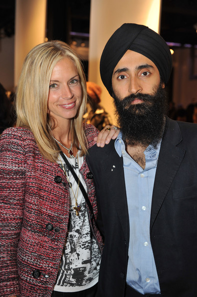 Theory Celebrates Fashion's Night Out [theory celebrates fashion,facial hair,hair,beard,fashion,yellow,event,moustache,headgear,outerwear,fashion design,meredith melling-burke,waris ahluwalia,l-r,new york city,vogue,fashion,night out,night out at theory]