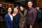 Stefania LaVie Owen, Melinda Page Hamilton, Michelle Monaghan and Will Traval attend the 'Messiah' Los Angeles Press Mixer at The Shelby on December 12, 2019 in Los Angeles, California.