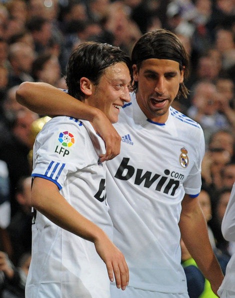 Mesut Ozil and Sami Khedira - Real Madrid v Atletico Madrid - La Liga