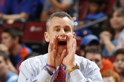 Head coach Billy Donovan of the Florida Gators directs the players during first half action against the Wake Forest Demon Deacons during the MetroPCS Orange Bowl Basketball Classic at the BB&T Center on December 20, 2014 in Sunrise, Florida.