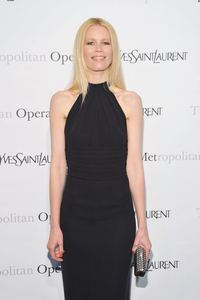 "Model Claudia Schiffer attends the Metropolitan Opera's gala premiere of Rossini's ""Le Comte Ory""  at The Metropolitan Opera House on March 24, 2011 in New York City."