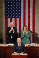 U.S. Vice President Joe Biden (L) and Speaker of the House Nancy Pelosi (D-CA) (L) stand and applaud for Mexican President Felipe Calderon as he addresses a joint session of the U.S. Congress on the floor of the House House of Representatives at the U.S. Captiol May 20, 2010 in Washington, DC. Calderon met with U.S. President Barack Obama at the White House Wednesday where the two leaders discussed the ongoing drug war along the U.S.-Mexico border and the recent anti-illegal immigration law passed in Arizona.