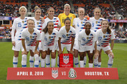 The United States poses for a photo before the game against the Mexico at BBVA Compass Stadium on April 8, 2018 in Houston, Texas.