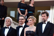 "(L-R) Producer Domenico Procacci, actor John Turturro, actress Margherita Buy and director Nanni Moretti attend the Premiere of ""Mia Madre"" (""My Mother"") during the 68th annual Cannes Film Festival on May 16, 2015 in Cannes, France."