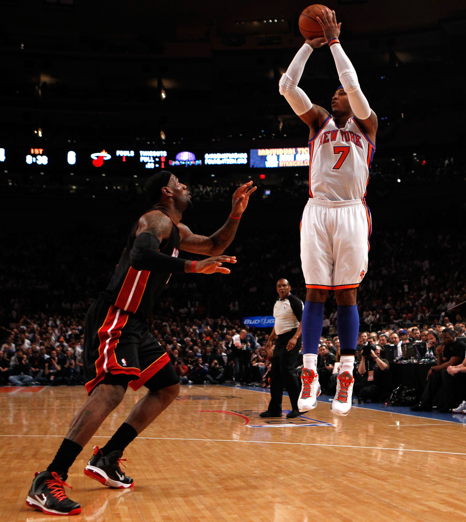 Carmelo Anthony in Miami Heat v New York Knicks - Game ...