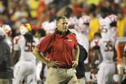 Maryland Terrapins head coach Randy Edsall watches his team from the sidelines against the Miami Hurricanes at Byrd Stadium on September 5, 2011 in College Park, Maryland.
