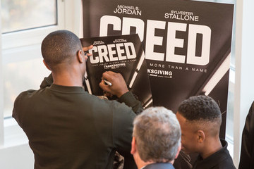 Michael B. Jordan 'Creed' Stars Michael B. Jordan and Tessa Thompson Join Writer/Director Ryan Coogler For A Big Brothers Big Sisters Of Metro Atlanta Mural Unveiling