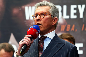 Michael Buffer Anthony Joshua And Alexander Povetkin Weigh-in
