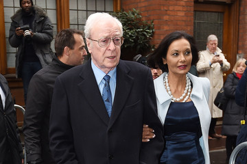 Michael Caine Jerry Hall Marries Media Mogul Rupert At St Brides Church