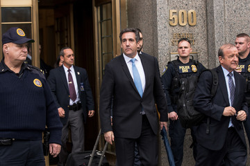 Michael Cohen Trump's Personal Lawyer Michael Cohen Appears For Court Hearing Related To FBI Raid On His Hotel Room And Office