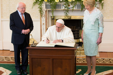 Michael D. Higgins Pope Francis Meets The President Of Ireland