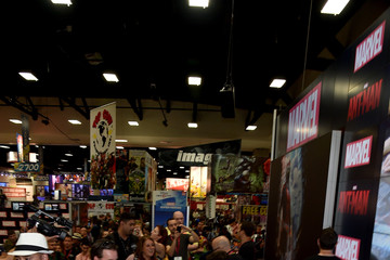"Michael Douglas Marvel's ""Ant-Man"" Booth Signing During Comic-Con International 2014"