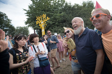 Michael Eavis Festival Goers Enjoy Glastonbury 2017 - Day Two