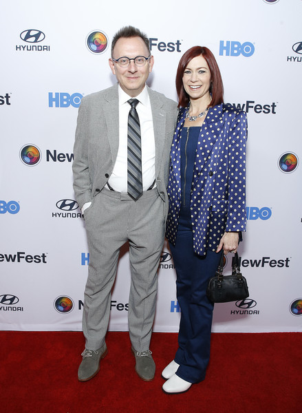 """Sell By"" - NewFest Film Festival Opening Night [carpet,suit,event,red carpet,premiere,flooring,formal wear,tie,award,michael emerson,carrie preston,sell by,new york city,sva theater,newfest film festival opening night,screening]"