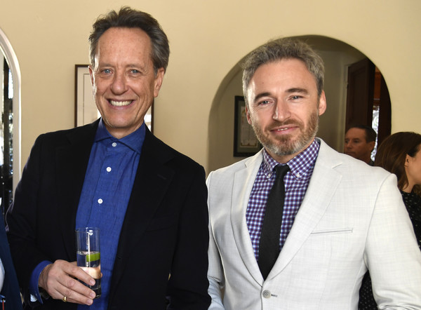 Reception For UK Oscars Nominees [event,white-collar worker,suit,businessperson,alcohol,management,award,employment,business,tourism,oscars nominees,general\u00e2,consul general,richard e. grant,michael howells,l-r,uk,los angeles,reception for uk,reception]