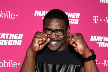 Michael Irvin SHOWTIME, WME|IMG, and MAYWEATHER PROMOTIONS VIP Pre-Fight Party Arrivals on the T-Mobile Magenta Carpet for Mayweather VS McGregor