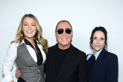 (L-R) Blake Lively, Michael Kors and Julia Louis-Dreyfus pose backstage during the Michael Kors FW20 Runway Show on February 12, 2020 in New York City.