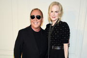 Michael Kors and Nicole Kidman pose backstage during the Michael Kors Collection Spring 2020 Runway Show on September 11, 2019 in Brooklyn City.