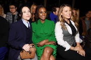(L-R) Julia Louis-Dreyfus, Issa Rae and Blake Lively attend the Michael Kors FW20 Runway Show on February 12, 2020 in New York City.