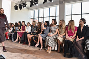 Bryanboy, Tao Okamoto, Ming Xi, Olivia Palermo, Alexandra Richards, Harley Viera-Newton, Leigh Lezark, Hanneli Mustaparta, Poppy Delevingne, Jessica Hart, and Lily Aldridge attend the Michael Kors fashion show during Mercedes-Benz Fashion Week Fall 2015 . at Spring Studios on February 18, 2015 in New York City.