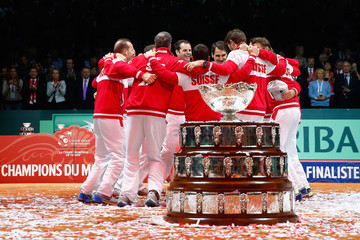 Michael Lammer France v Switzerland - Davis Cup World Group Final: Day Three