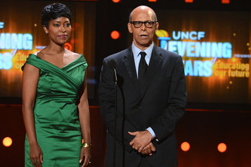 Michael Lomax Laysha Ward UNCF Hosts The 33rd Annual An Evening With The Stars - Show