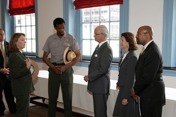 Michael Nutter The Swedish Royal Family Visits Independence Hall