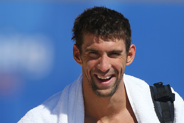 Michael Phelps Team USA Pan Pacs Squad Training Session