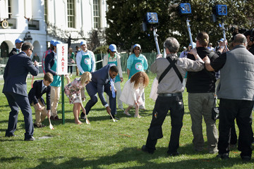 Michael Strahan Kelly Ripa White House Hosts Annual Easter Egg Roll On The South Lawn