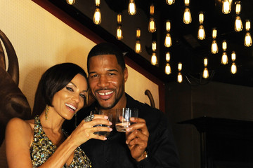 Michael Strahan Nicole Murphy Michael Strahan Toasts The Holidays With elit By Stolichnaya pristine water series: Himalayan Edition