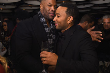 """Michael Strahan John Legend Celebrates His Birthday And The 10th Anniversary Of His Debut Album """"Get Lifted"""" At CATCH NYC"""