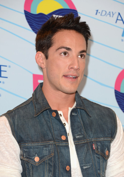 Michael Trevino Actor Michael Trevino, winner of Choice Fantasy/Sci-Fi Show award, poses in the press room during the 2012 Teen Choice Awards at Gibson Amphitheatre on July 22, 2012 in Universal City, California.