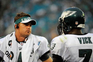 Michael Vick and Kevin Kolb