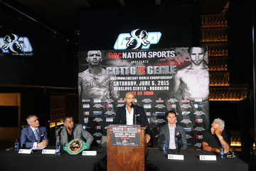Michael Yormack Roc Nation Sports & Miguel Cotto Promotions Present Miguel Cotto vs. Daniel Geale on June 6 From Barclays Center in Brooklyn Live on HBO: Official Press Conference at The 40/40 Club