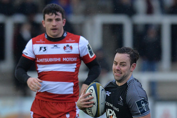 Michael Young Newcastle Falcons v Gloucester Rugby - Anglo-Welsh Cup
