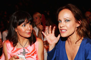 Nadine Warmuth and Sonja Kirchberger attend the Michalsky Style Nite 2012 at Mercedes-Benz Fashion Week Berlin Spring/Summer 2013 at Tempodrom on July 6, 2012 in Berlin, Germany.