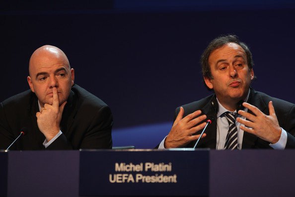 UEFA Congress Takes Place In Israel [spokesperson,event,speech,sky,public speaking,convention,news conference,conversation,academic conference,orator,michel platini,gianni infantino,r,uefa congress takes place,israel,tel aviv,uefa,xxxiv,uefa congress,press conference]