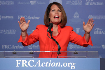 Michele Bachmann Donald Trump Speaks at the Voter Values Summit in Washington, D.C.