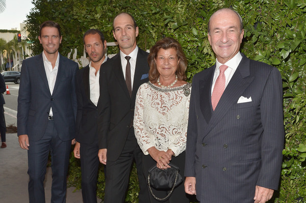 Ferragamo Celebrates 100 Years in Hollywood [salvatore ferragamo italia james ferragamo,ceo,ferragamo celebrates,leather product director,director,group managing director,fulvia visconti ferragamo,l-r,suit,event,formal wear,tuxedo,white-collar worker,businessperson,hollywood,boutique]