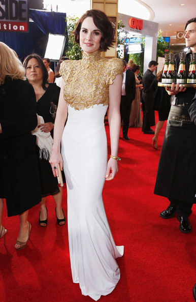 Michelle Dockery - smartwater At The Golden Globes Red Carpet