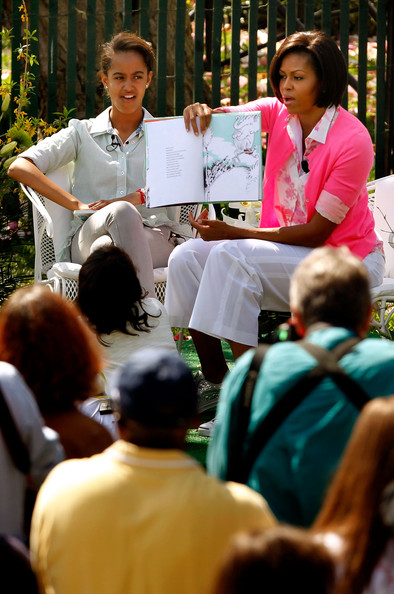 President And Mrs. Obama Host Easter Egg Roll On White House Lawn [youth,community,event,adaptation,crowd,conversation,child,michelle obama,president,malia obama,children,tradition,white house lawn,u.s.,south lawn,group,easter egg roll]