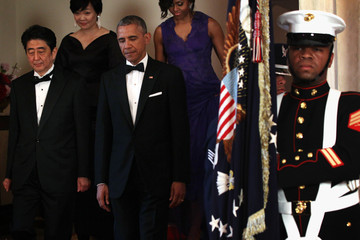 Michelle Obama President Obama And First Lady Host State Dinner For Japanese PM Shinzo Abe And Akie Abe